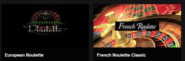 European roulette en french roulette classic